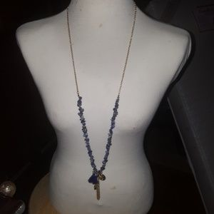 Chicos Tassel and Stones long necklace